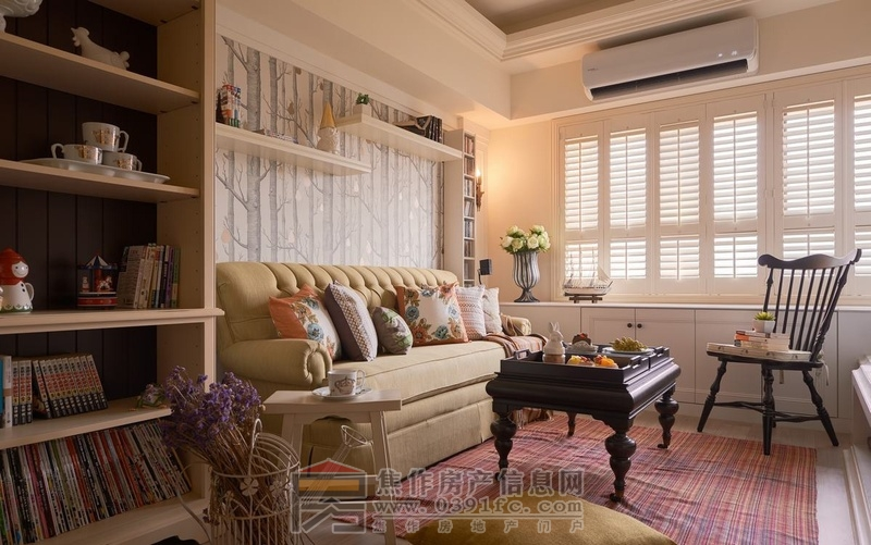 68平米小户型田园风格两房装修 温馨乡村风高清图片